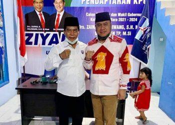Jufri Budiman Bersama Calon Gubernur Kaltara Zainal A Paliwang. Foto: Istimewa/FB Jufri Budiman