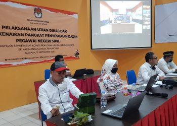 Seleksi Ujian Kenaikan Pangkat dan Penyesuaian Ijazah PNS di Lingkup Sekretariat KPU se-Kaltara. foto: Fokusborneo.com