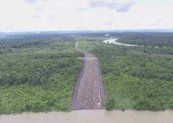 Rencana lokasi Pelabuhan Pesawan, Tanjung Selor.Foto: Humas Pemprov Kaltara
