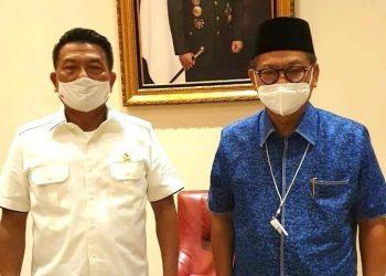 Gubernur Kaltara, Dr H Irianto Lambrie bersama KSP Jend TNI (Purn.) Moeldoko, baru-baru ini. Foto: Humas Pemprov Kaltara