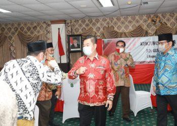 Pjs Gubernur Kaltara Teguh Setyabudi saat melakukan silaturahmi dengan Forkopimda Nunukan.Foto: Humas Pemprov Kaltara