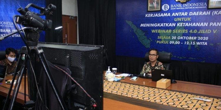 Yufrizal, Kepala BI Kaltara Saat Memberikan Materi Pada Webinar Series 4.0 Jilid V. Foto: Istimewa