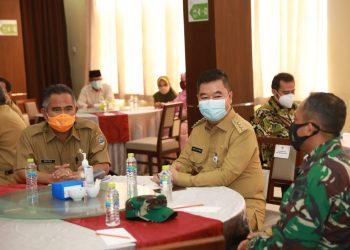 Pjs Gubernur Kaltara, bersilaturahmi dengan Forkompimda Kota Tarakan di Restoran Royal Crown. Foto: Humas Pemprov Kaltara