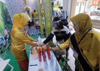 PROMOSI INVESTASI : Stand Pemprov Kaltara pada Pameran Indonesia Quality Expo 2020 di DI Yogyakarta, Kamis (12/11) . Foto : HumasProvinsi Kaltara