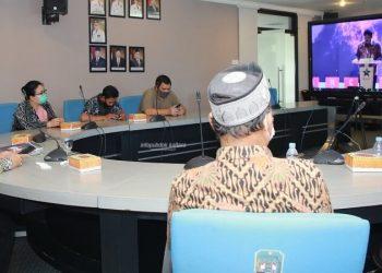 PANCAMAIN : Pjs Gubernur Kaltara, Teguh Setyabudi saat mengikuti peluncuran PancaMain Indonesia secara daring, Jumat (20/11). Foto : Humas Provinsi kaltara