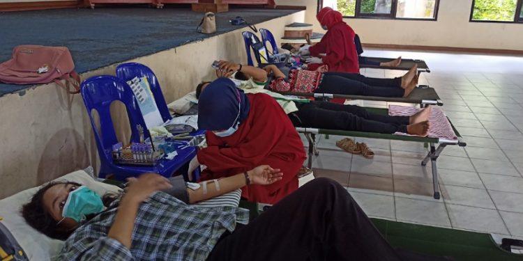 Baru Pertama Donor, Pemuda Katolik Tarakan Semangat Ikut Aksi Sosial Donor Darah. Foto: fokusborneo.com