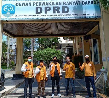 Ketua Fraksi Hanura DPRD Kota Tarakan Rusli Jabba bersama anggota DPRD Kota Tarakan dari Partai Hanura. Foto : Istimewa