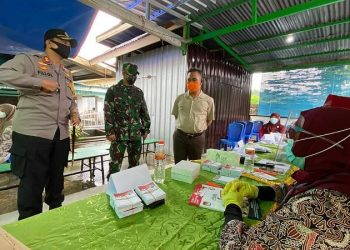 Kapolres Tarakan, Dandim 0907 Tarakan, Walikota Tarakan Pantau Pemungutan Suara di TPS. Foto: IST/Humpro Tarakan