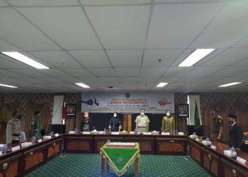 Bupati Kabupaten Nunukan, Hj.Asmin Laura Hafid, SE,  menghadiri kegiatan pencanangan ZI menuju WBK dan WBBM di kantor Pertanahan Kabupaten Nunukan.Foto: Humas Nunukan.