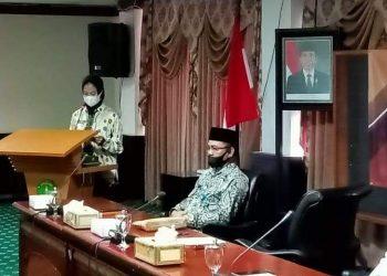 Bupati Nunukan, Hj. Asmin Laura Hafid membuka acara doa bersama lintas agama. Foto: Pemkab Nunukan