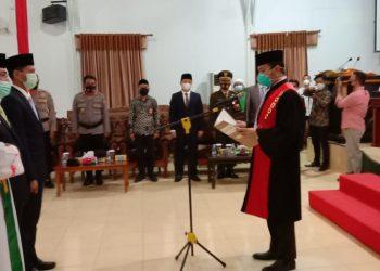 Pelatikan dan pengucapan sumpah janji jabatan Ketua DPRD Tana Tidung. Foto: Fokusborneo