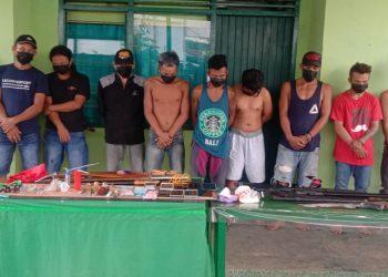Tim gabungan Kodim 0914/Tana Tidung dan Polsek Sesayap menangkap tersangka penyalahgunaan  Narkotika jenis sabu sabu. Foto: Fokusborneo