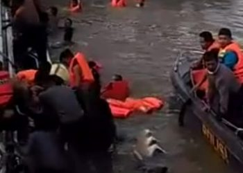 Video Speedboat Tenggelam di Tanjung Selor Hoax. Foto: IST