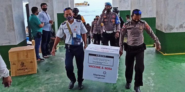 Vaksin Covid-19 Senovac Tiba di Pelabuhan Tengkayu SDF Tarakan. Foto: fokusborneo.com