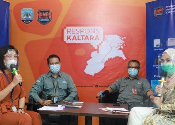 Dirut RSUD Provinsi Kaltara di Tarakan, dr HM Hasbi Hasyim dan Jubir Satgas Penanganan Covid-19 Kaltara Agust Suwandy menjadi narasumber Respons Kaltara, Rabu (6/1) siang. Foto: Humas Provinsi Kaltara