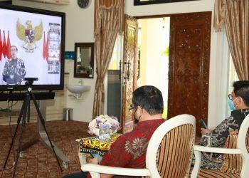 Vicon bersama Presiden Joko Widodo. Foto: Humas Prov Kaltara
