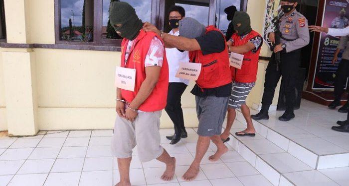 Ketiga Pelaku Pencurian Uang Ratusan Juta Rupiah Berhasil Dibekuk Polres Malinau. Foto: IST/humas polres Malinau