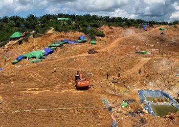 Lokasi Aktifitas Tambang Emas Ilegal di Sekatak Biji Bulungan