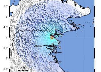 Lokasi Gempa (Tanda Bintang). Sumber: BMKG