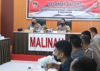 Polres Malinau Menerima Kunjungan Tim Puslitbang Mabes Polri. Foto: ist