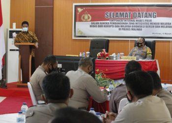 Tim Penilai Internal (TPI) pembangunan ZI dari Mabes Polri di Polres Malinau.Foto:Ist