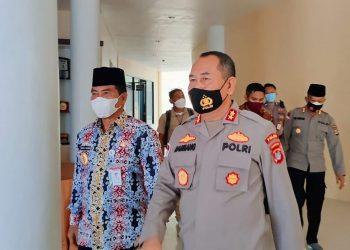 Pertemuan Gubernur Kaltara, Drs.H. Zainal Arifin Paliwang, SH.M.Hum dengan Kapolda Kaltara, Irjen Pol Bambang Kristiyono, jumat (12/03/2021).Foto: Ist