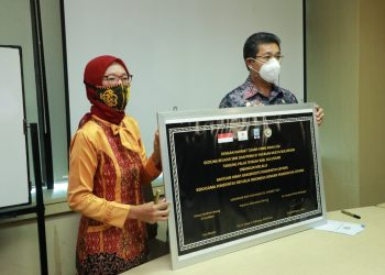 Wakil Gubernur, Yansen TP meresmikan Gedung Baru  Yayasan Mulya Desa Tanjung Buka Tanjung Palas Bulungan secara virtual