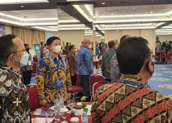 Bupati Kabupaten Tana Tidung, Ibrahim Ali saat menghadiri Rakornas Aspeksindo di Hotel Century Park, Jakarta. Foto:Ist