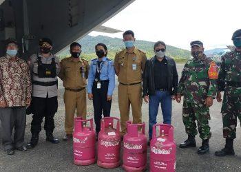 Gas Elpiji 12 Kg Milik Pertamina Tiba di Krayan. foto: ist/pertamina