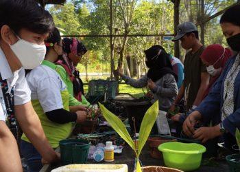 Peningkatan Kapasitas Building Oleh Pertamina EP Tarakan Field Kepada Mahasiswa dan Pengelola Taman Anggrek. Foto : fokusborneo.com