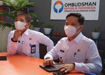 Bupati KTT Ibrahim Ali bersama Kepala Ombudsman Kaltara Ibramsyah. Foto: fokusborneo.com