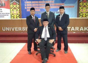 Dr. ING. Daud Nawir bersama Rektor dan Wakil Rektor UBT. Foto : Istimewa