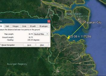 Lokasi Speedboat Kandas. Foto: Kansar Tarakan