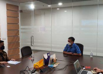 Bupati Kabupaten Tana Tidung, Ibrahim Ali saat melakukan audiensi dengan Bakti Kominfo di Kantor Bakti Kominfo Menara Merdeka Jakarta