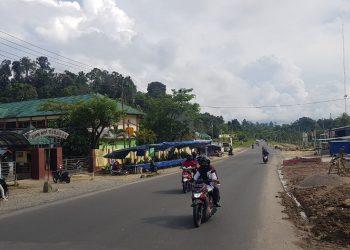 Jalan Aki Balak depan Markas Komando Yonif Raider 613, Juata Tarakan.Foto: Fokusborneo