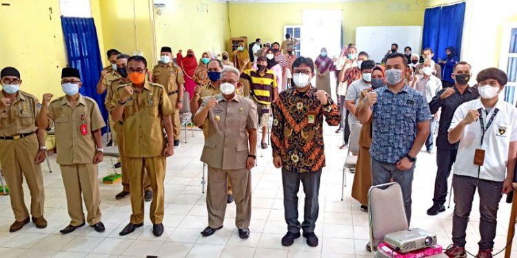 Pembukaan UPSK: Jajaran PT Pertamina EP Tarakan Field bersama Wakil Walikota Tarakan dan Peserta UPSK. Foto: fokusborneo.com