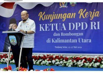 Ketua DPD RI AA LaNyalla Mahmud Mattalitti. Foto : Humas DPD RI.
