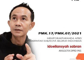 Anggota DPRD Kota Tarakan dari PKS Idoeliansyah Sabran. Foto : Istimewa