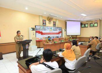 Walikota Tarakan Buka Bimtek Petugas Kesejahteraan Sosial Kerjasama Kementerian Sosial. Foto: Humas Pemkot