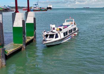Speedboat Lestari Benuanta Tiba di Pelabuhan Tengkayu Tarakan. foto: ist