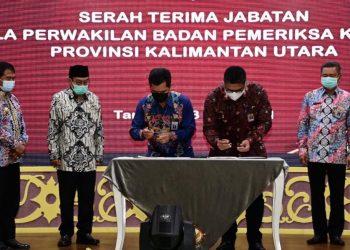 Serah terima jabatan Kepala perwakilan badan pemeriksaan keuangan Provinsi Kalimantan Utara