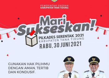 Pilkades Serentak di Kabupaten Tana Tidung 30 Juni 2021. Grafis: Diskominfo KTT