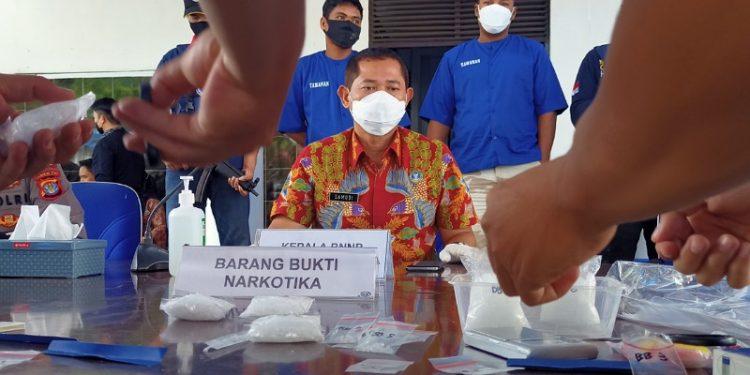 Brigjen Pol Samudi Saat Memimpin Pemusnahan Narkoba Asal Malaysia. foto: fokusborneo.com
