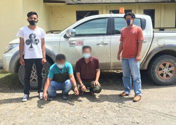 Polres Malinau Mengamankan 2 Pelaku Kepemilikan Narkotika Jenis Sabu. Foto: Ist