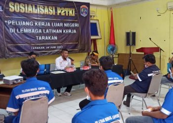 LLK Tarakan dan BP2MI Nunukan Sosialisasi P2TKI Peluang Kerja Luar Negeri di lembaga Pelatihan Kerja Tarakan. foto: fokusborneo.com