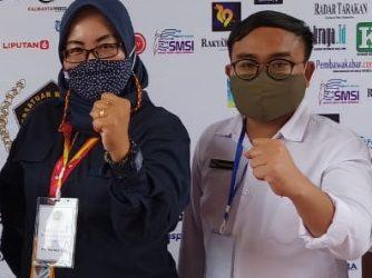 Ketua Smsi Kota Tarakan, Ika Ratnawati dan  Ketua PWI Kota Tarakan, Andi Muhammad Rizal.Foto:Doc. PWI Kota Tarakan