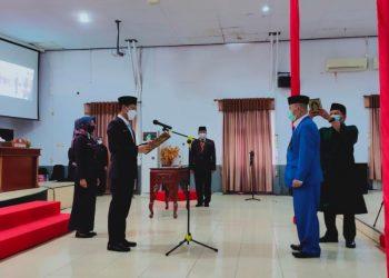 Salim Aripin, resmi dilantik dan dikukuhkan sebagai anggota DPRD Kabupaten Tana Tidung masa jabatan 2019 - 2024