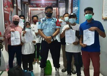 Delapan Warga Binaan Lapas Tarakan Mendapatkan Asimilasi Covid-19. Foto: IST/Humas Lapas