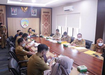 Rapat koordinasi tapal batas daerah, bertempat di ruang Rapat Bupati.Foto: Diskominfo KTT