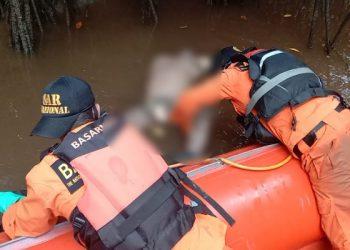 Diduga Diterkam Buaya: Tim SAR Gabungan Berhasil Temukan Jenazah Korban. Foto: Istimewa